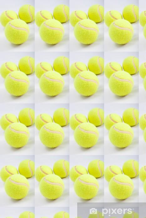 Tapeta na wymiar winylowa 3 piłka tenisowa na białym - Tenis