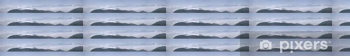 Måttanpassad vinyltapet Alpine panorama - Utomhussport
