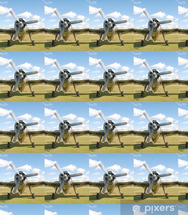 Papier peint vinyle sur mesure Vieil avion de combat - Dans les airs