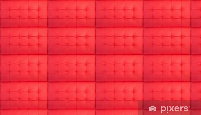 Tapeta na wymiar winylowa Czerwona pikowana skóra - Tekstury