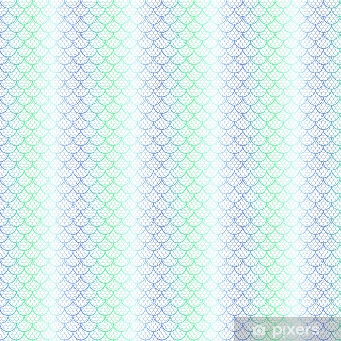 d59d520c Spesialtilpasset vinyltapet Fantastisk fiskeskala vektor mønster. havfrue  halen skala sømløs mønster. - Grafiske Ressurser
