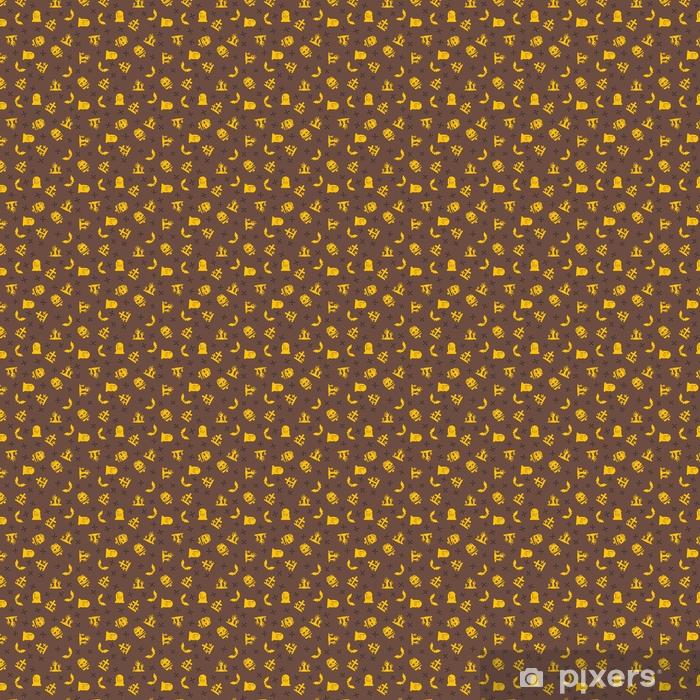 Tapeta na wymiar winylowa Tło halloween. wzór bez szwu. kolor żółty i brązowy. ilustracji wektorowych - Religia i kultura