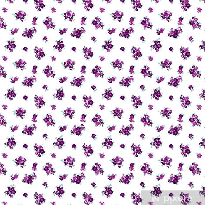 Vinyl behang, op maat gemaakt Behang naadloze bloemenpatroon - Bloemen en Planten