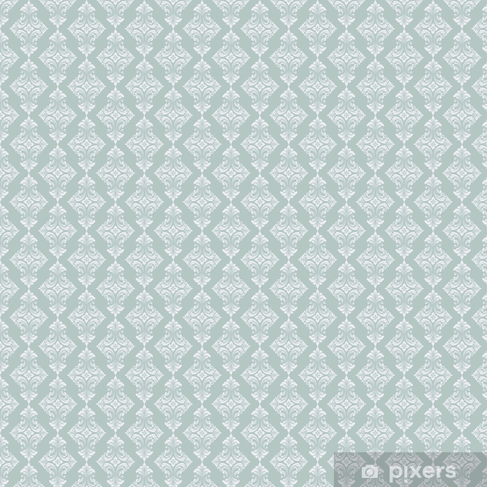 Vector damask seamless pattern background. Classical luxury old fashioned damask ornament, royal victorian seamless texture for wallpapers, textile, wrapping. Exquisite floral baroque template. Vinyl custom-made wallpaper - Graphic Resources