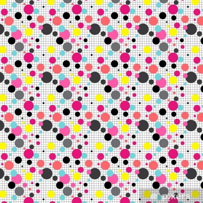 Tapeta na wymiar winylowa Bezszwowe abstrakcyjne koła geometryczny wzór na biały - Zasoby graficzne