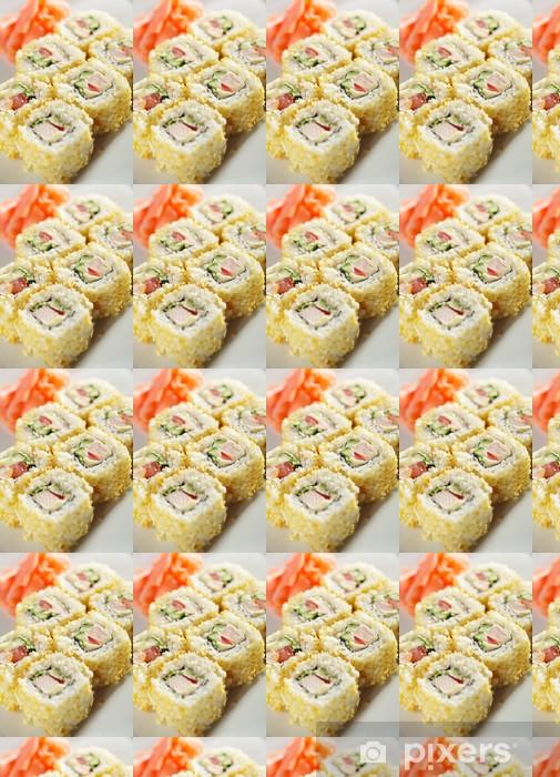 Vinylová tapeta na míru Japonská kuchyně. Maki sushi. - Sushi