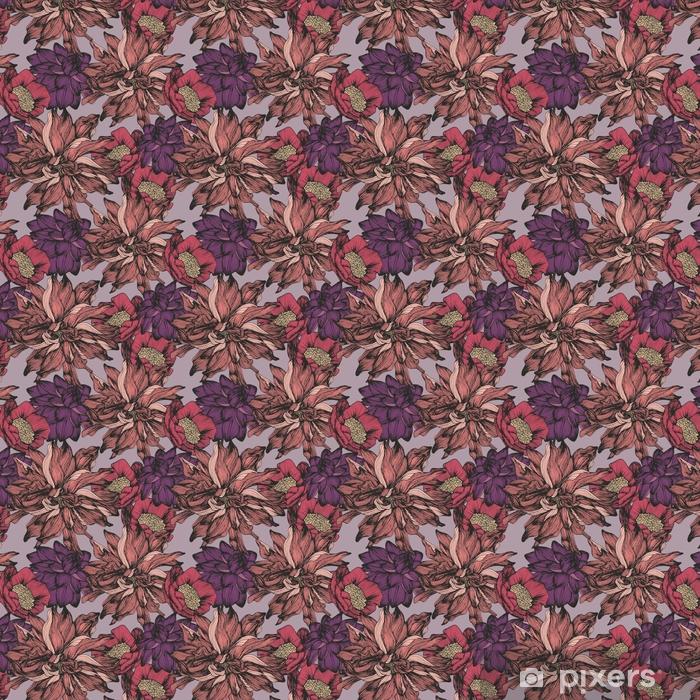 Tapeta na wymiar winylowa Wektor wzór z skomplikowanych szczegółowych kolorów. rysunek odręczny - Rośliny i kwiaty