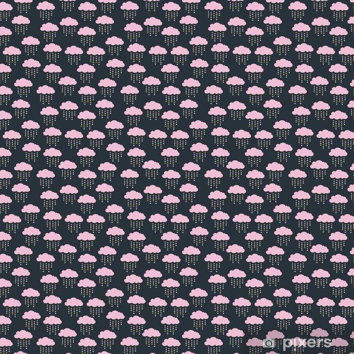 Papel pintado estándar a medida Patrón sin costuras con nubes rosas - Sensaciones y emociones