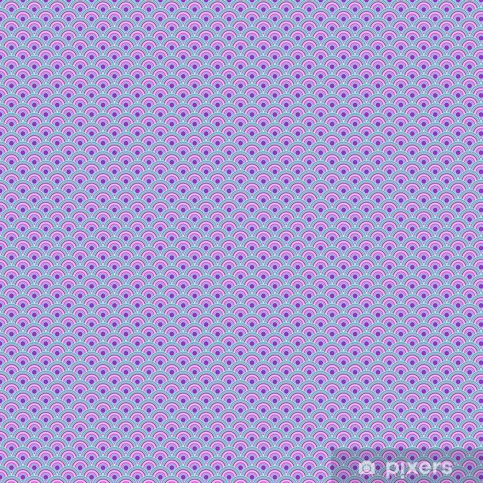 Vinyl behang, op maat gemaakt Violet gekleurde vis squama - Grafische Bronnen
