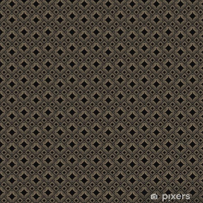 papier peint motifs mod le sans couture dans le style art d co carrelage noir et dor. Black Bedroom Furniture Sets. Home Design Ideas
