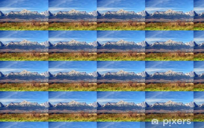 Carta da parati in vinile su misura Una vista dei Monti Tatra in estate, Slovacchia. - Montagne