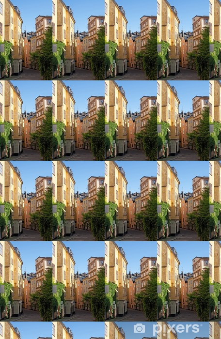 Papier peint vinyle sur mesure Vieille rue dans le centre de Stockholm - Europe