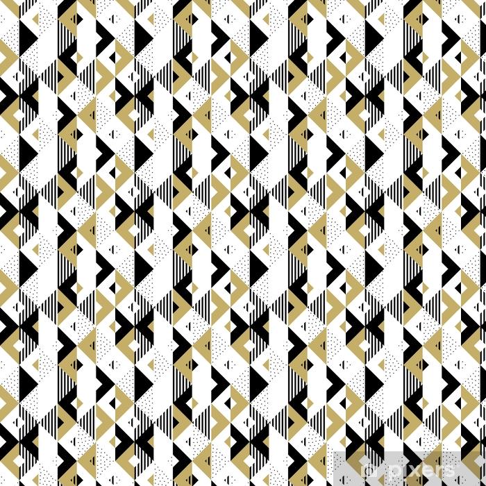 Papier Peint à Motifs Triangle Motif Abstrait Géométrique Doré. Fond De  Vecteur De Modèle Triangulaire Noir, Blanc Et Or Ou Texture Du0027ornement  Swatch Carré ...