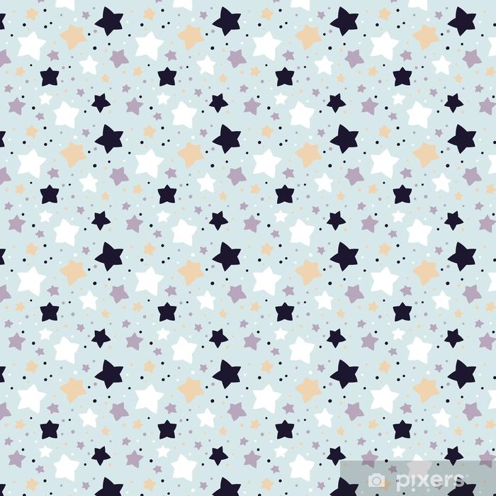 Vinyl behang, op maat gemaakt Naadloze patroon met sterren. vector sjabloon. geschikt voor textiel, wallpapers, wrappers en covers geschenkverpakking. - Grafische Bronnen