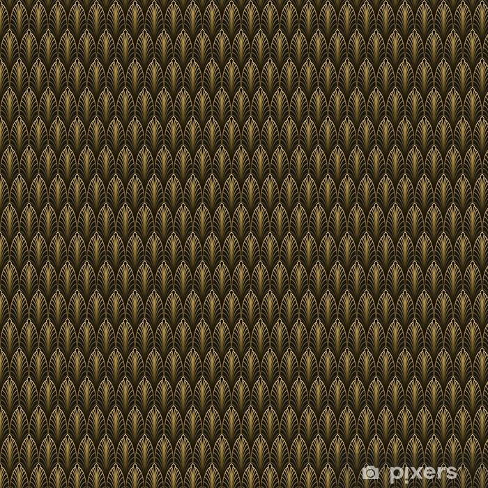Papier peint à motifs Style art déco modèle sans couture texture dorée • Pixers® - Nous vivons ...