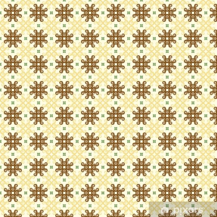 Papel pintado estándar a medida Patrón floral abstracto sin fisuras, patrón de mandala - Recursos gráficos