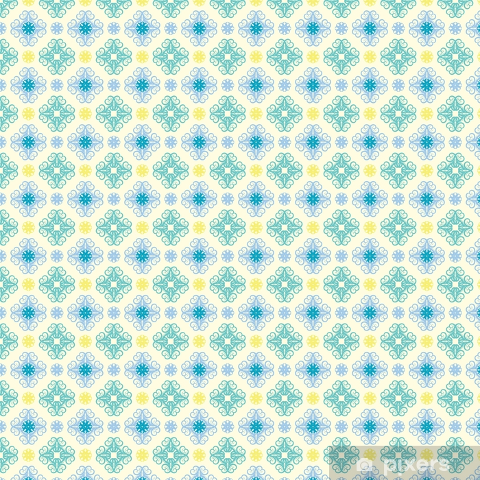 Seamless abstract floral pattern,mandala pattern Vinyl custom-made wallpaper - Graphic Resources