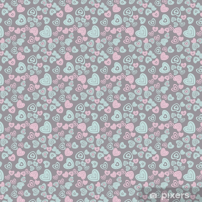 seamless heart pattern Vinyl custom-made wallpaper - Graphic Resources