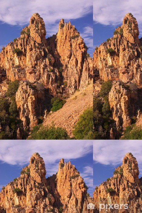 Vinil Duvar Kağıdı Calanche de Piana kaya oluşumları - Dağlar