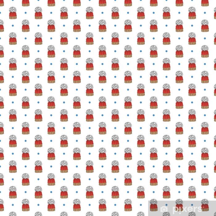 Tapeta Zimní sezóna doodle oblečení bezešvé vzor. ručně kreslené prvky  náčrtek teplý plášť d01e13df354