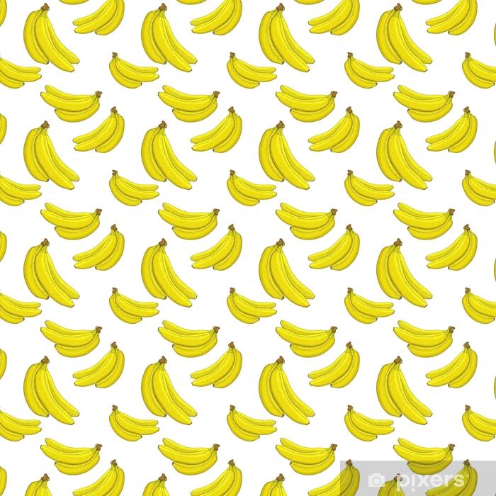 Måttanpassad vinyltapet Bananer. handritad skiss. sömlöst mönster - Mat