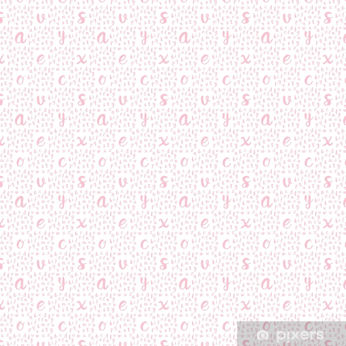 Seamless pattern with black alphabet letters Vinyl custom-made wallpaper - Graphic Resources