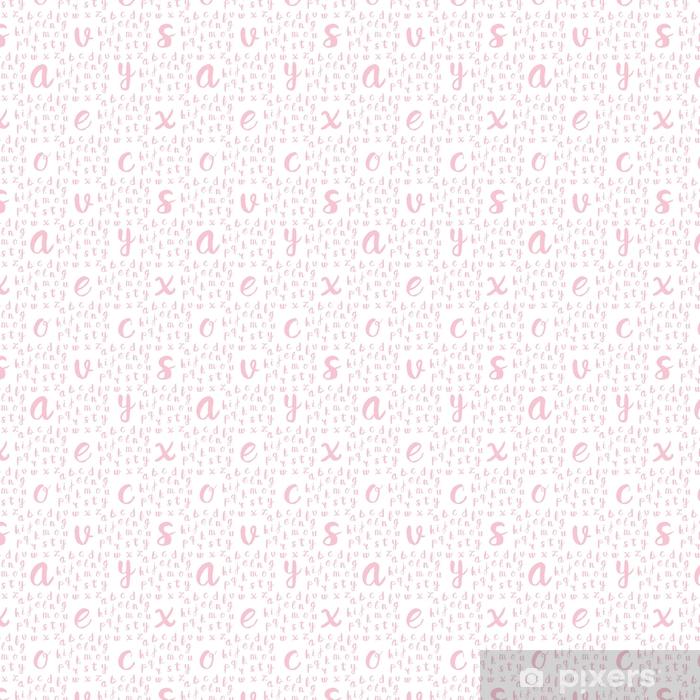 Zelfklevend behang, op maat gemaakt Naadloze patroon met zwarte Alfabetletters - Grafische Bronnen