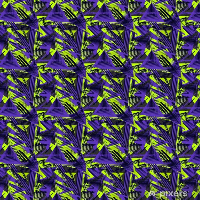 37c6d185ac Papel de parede em vinil à sua medida Padrão geométrico abstrato sem costura