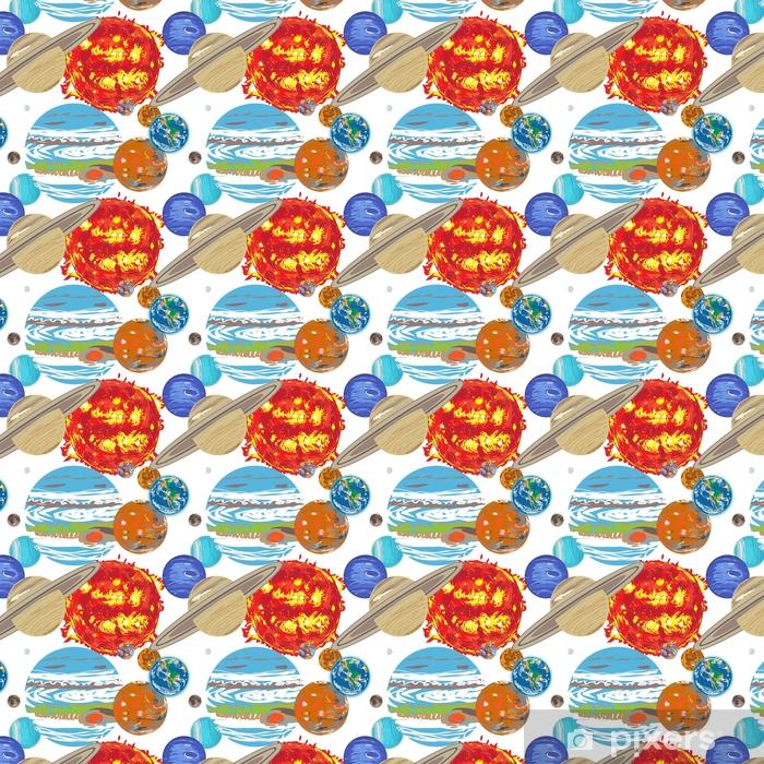 solar system pattern doodle Vinyl Custom-made Wallpaper - Science