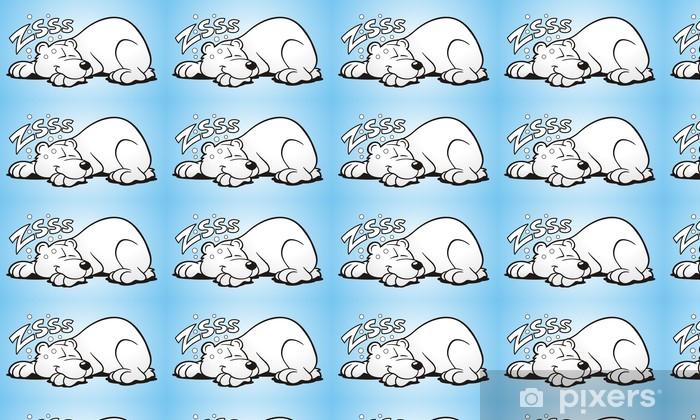 Tapeta na wymiar winylowa Niedźwiedź polarny w stanie hibernacji - Ssaki