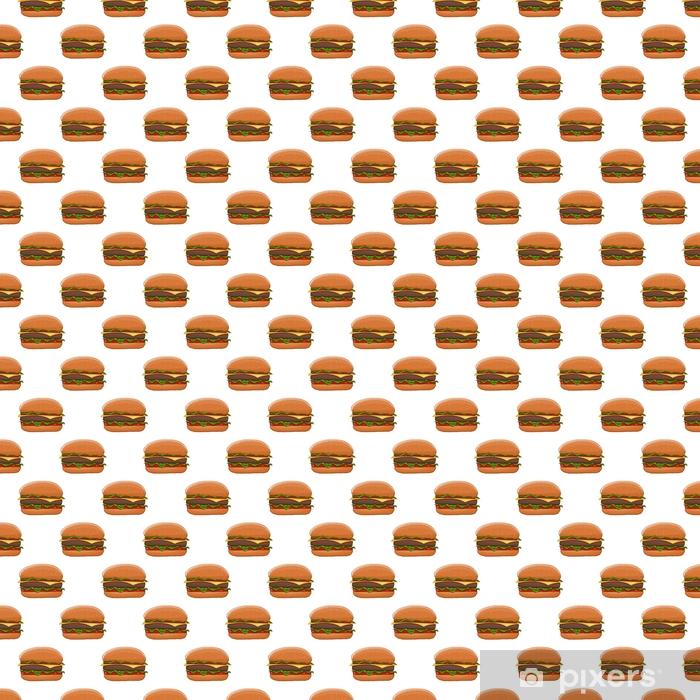 Papel De Parede Hamburger Desenho Colorido Como Padrao Sem