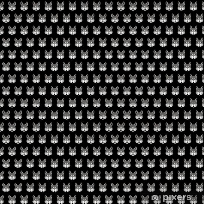 Papier peint vinyle sur mesure Abstrait sans soudure de loup polygonal. modèle de portrait de loup basse poly moderne - Animaux