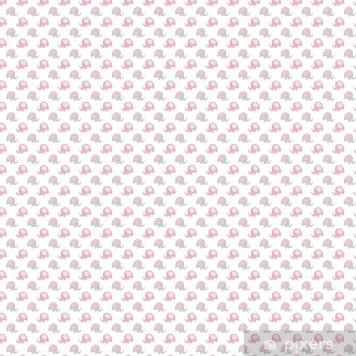 Tapeta na wymiar winylowa Słonie bezszwowe wzór dziecka - Zasoby graficzne