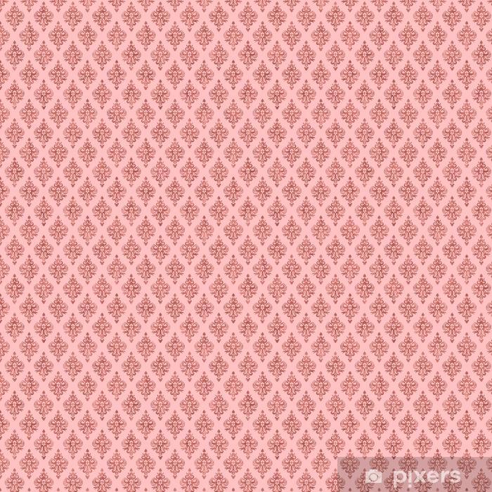 Vinyltapete nach Maß Rosa und Roségoldfolienbeschaffenheit - nahtloses Damastmuster - Grafische Elemente