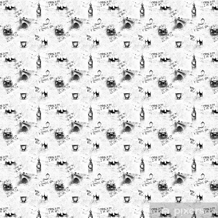 Vinylová tapeta na míru Černé a bílé londonové noviny na pozadí - Životní styl