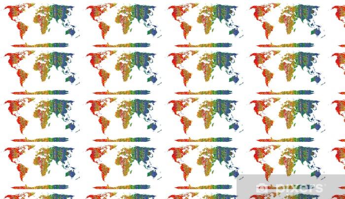 Colorfull Flags World Wallpaper Vinyl Custom Made