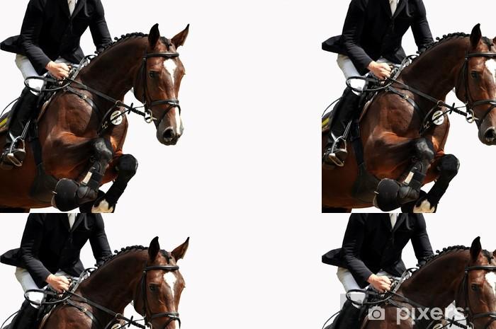Reitsport, pferdesport, reiten, springreiten, hürdenspringen Vinyylitapetti - Menestyminen Ja Saavutukset