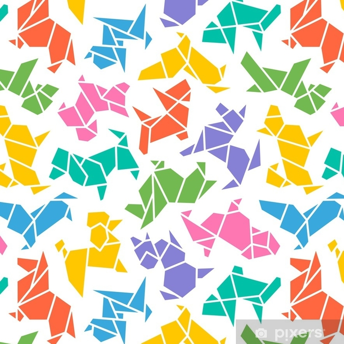 2018 chinese new year symbol wallpaper vinyl vector origami dogs seamless background abstract low poly pet dog breed sign silhouette pattern isolated
