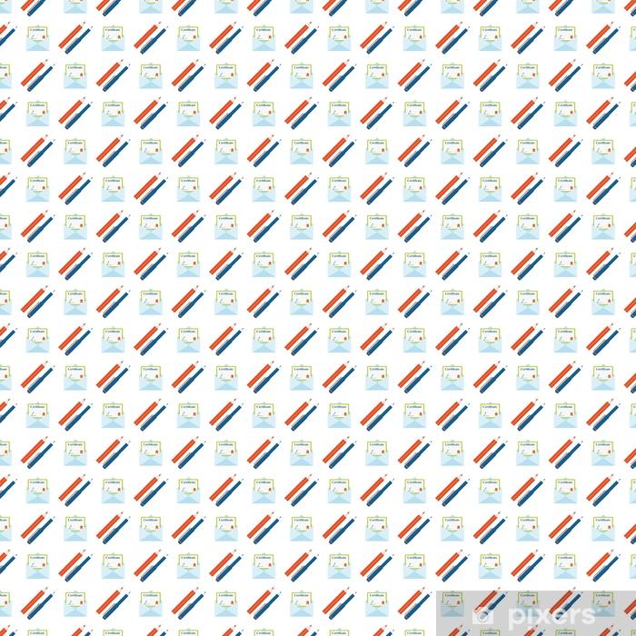 Papel pintado estándar a medida Lápices de colores fondo de pantalla de educación creativa certificado educación escuela de fondo transparente ilustración vectorial - Estilo de vida