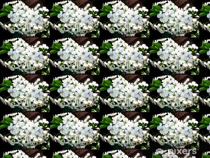 Vinylová tapeta na míru Banda bílých květů - Roční období