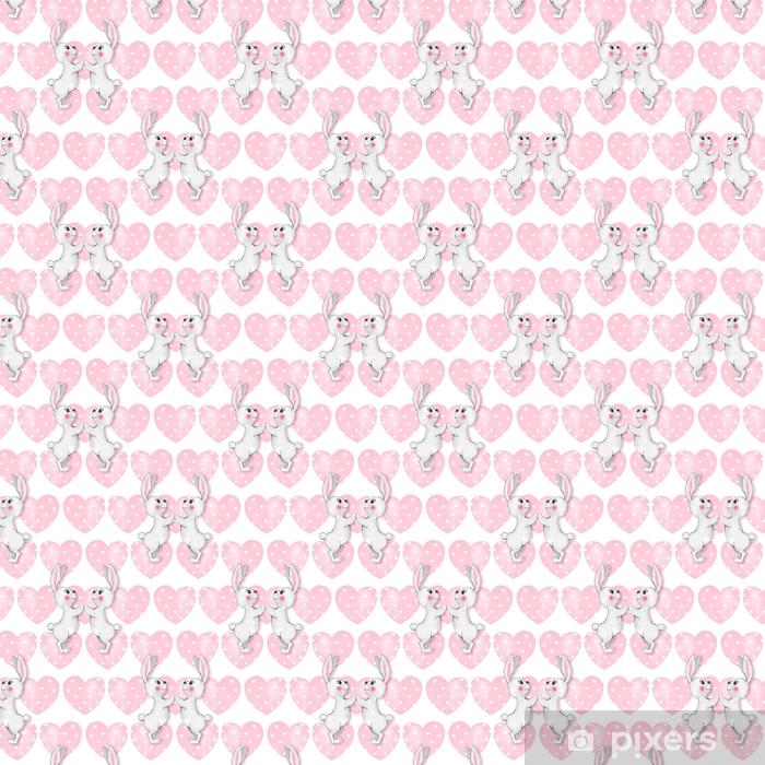 Tapeta na wymiar winylowa Wzór z kreskówki białe króliki 3 - Zasoby graficzne