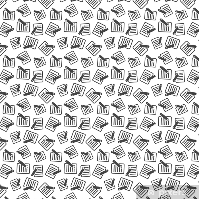 Document with pencil seamless pattern background. Business flat vector illustration. Document concept sign symbol pattern. Vinyl custom-made wallpaper - Business