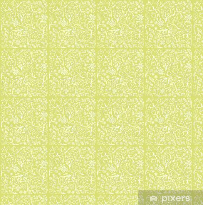 Vinyltapete nach Maß Einfache nahtlose Hintergrund Blume - Hintergründe