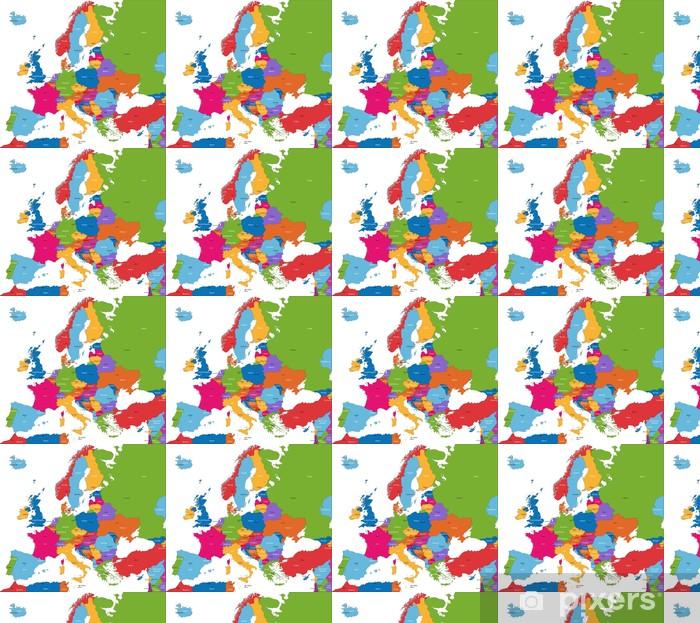 Karta Lander I Europa.Tapet Colorful Karta Europa Med Lander Och Huvudstader Pixers