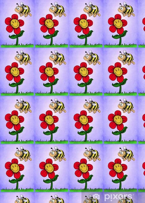 Papier peint vinyle sur mesure Fleur, abeille, miel, amis, Bourdon, prairie - Saisons