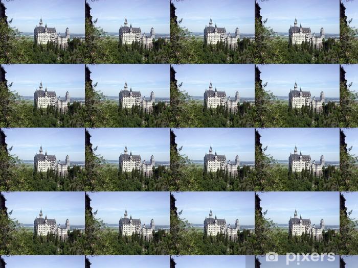 Papier peint vinyle sur mesure Le château de fou roi Ludwig en Allemagne - Europe