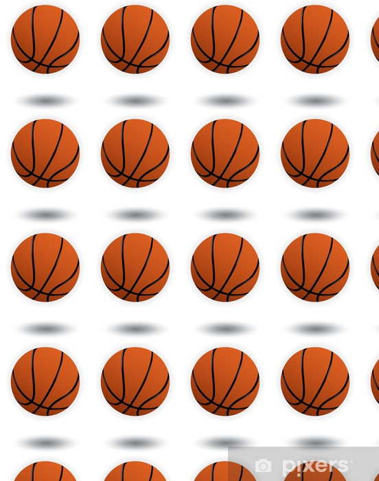 Papier peint vinyle sur mesure Vecteur de basket-ball illustration - Sports collectifs