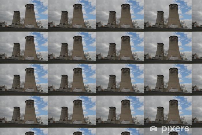Tapeta na wymiar winylowa Wieże chłodnicze - Budynki przemysłowe i handlowe
