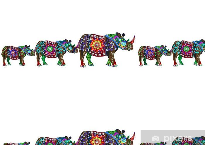 Vinyltapete Wilde Familie - Säugetiere
