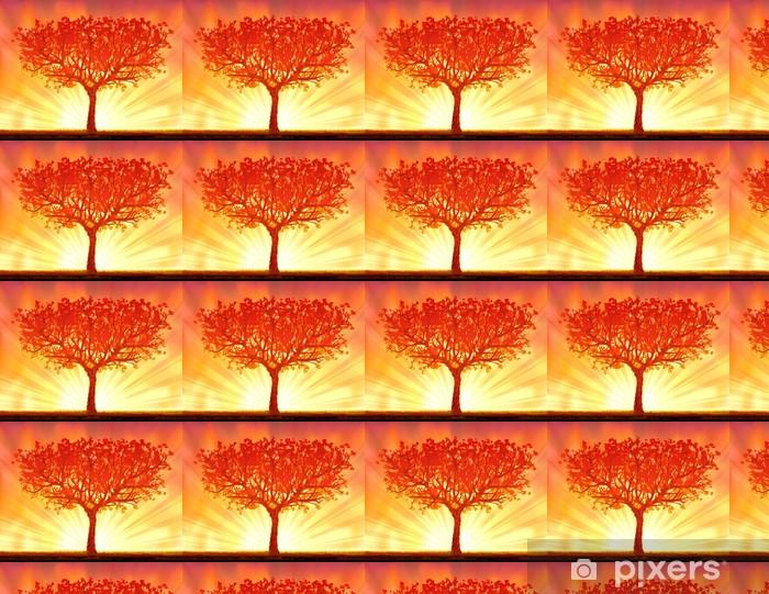 Tapeta na wymiar winylowa Piękne wektor autumn sunset tree - Drzewa